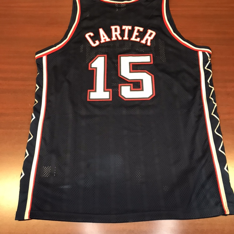 new products d54d4 17743 Reebok New Jersey Nets Vince Carter Authentic Jersey... - Depop