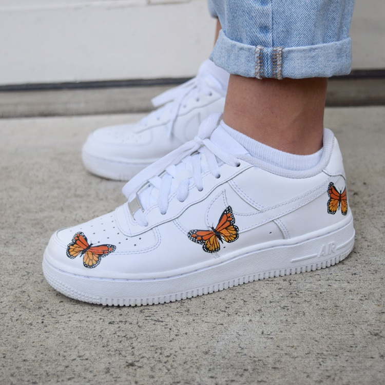 not selling anymore** custom butterfly af1!! PRICE... - Depop