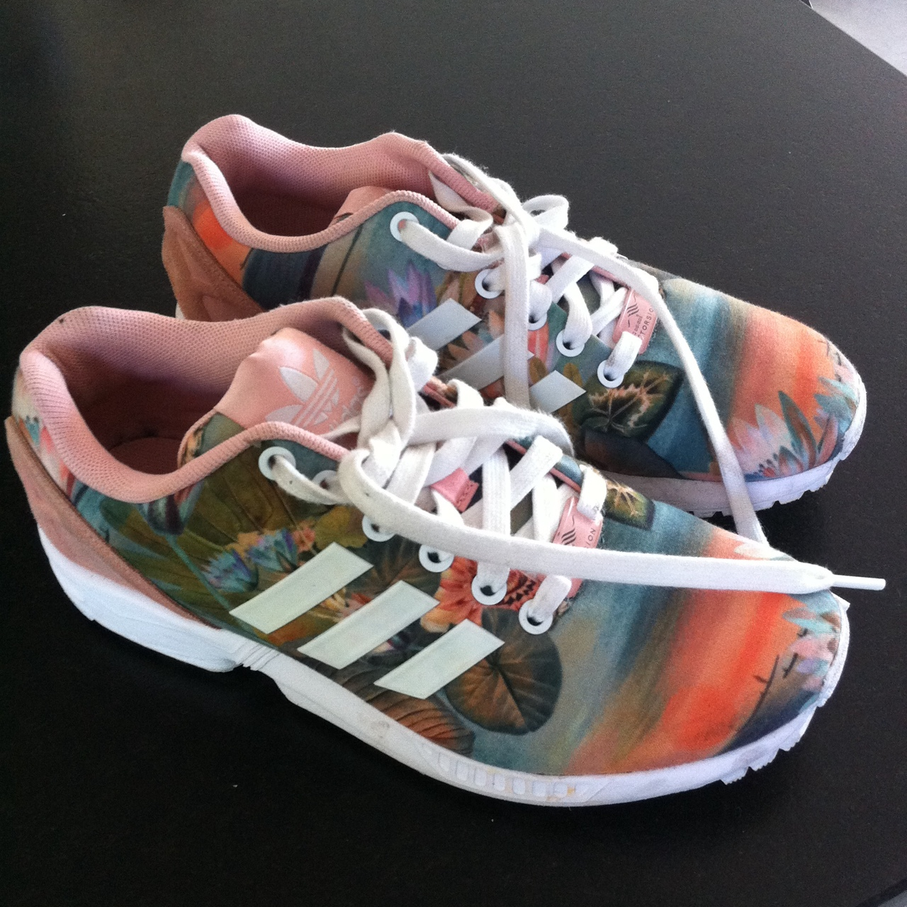 Sell adidas zx flux pink floral print
