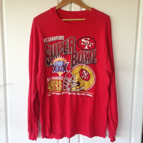 151565480 1994 Super Bowl XXIX 49ers Long Sleeve T-Shirt Vintage The - Depop