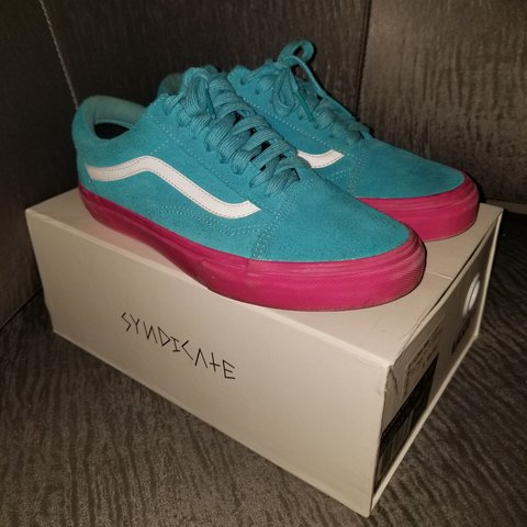 f8f84019b789 MAKE OFFER Vans x GOLF WANG blue pink syndicate mens us uk - Depop