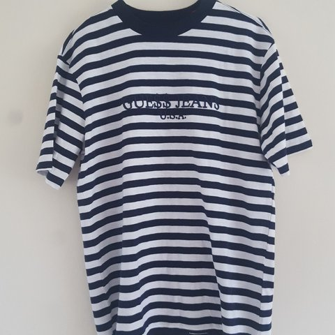 ad413842cc6b Guess X Asap Rocky T Shirt Navy And White Size Medium New Depop