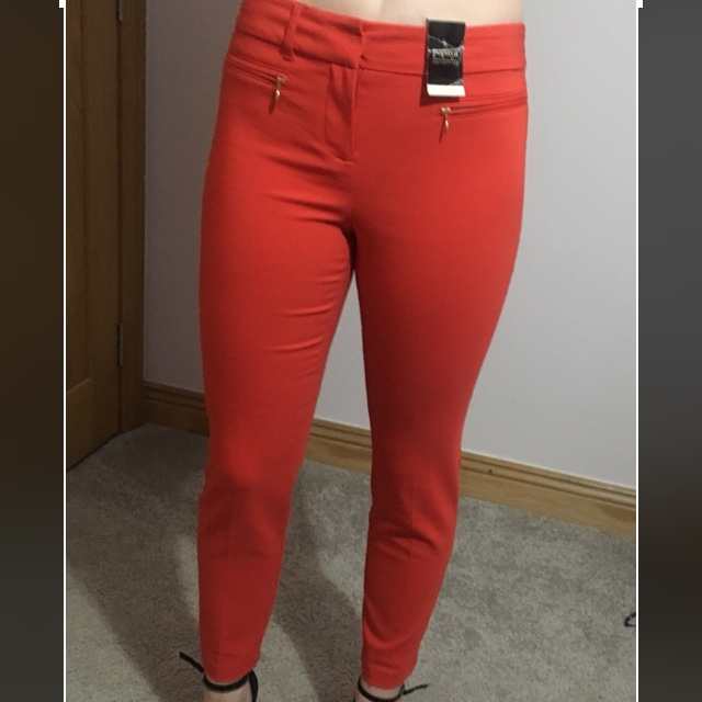 Red Trousers Size 8 Matalan Depop