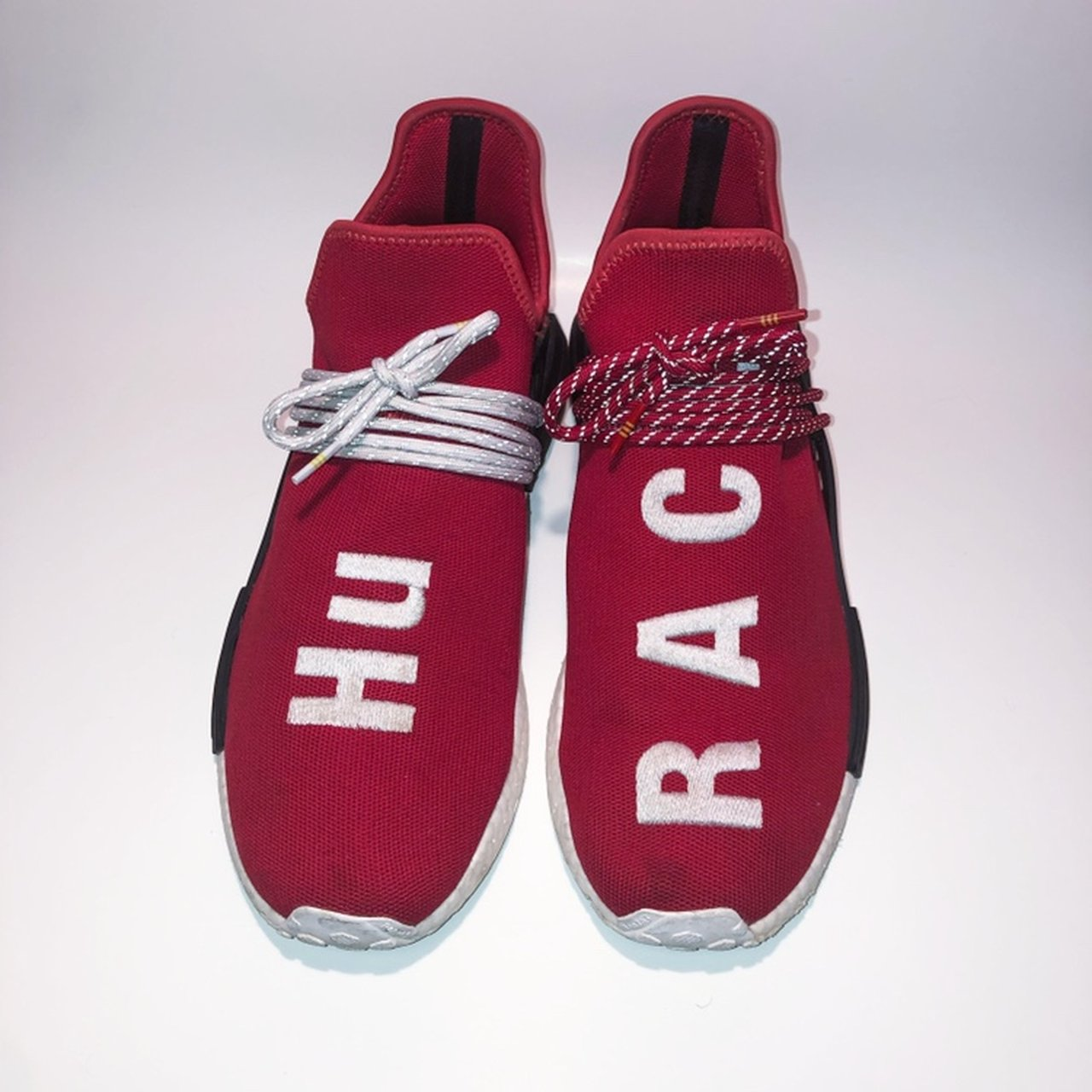 f8b81c273 🛑HUMAN RACES🛑 Red  White  Black Size 12 Adidas NMD