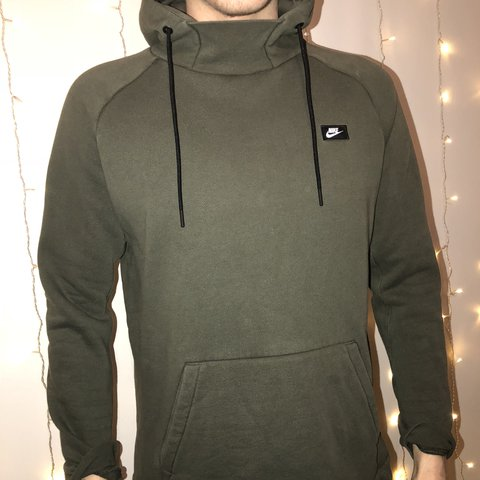 NIKE - High Neck Khaki Hoodie Great condition 3811c257d