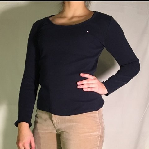 5c8758fb @taliannarenzi. 3 days ago. North Kingstown, United States. TOMMY HILFIGER  NAVY BLUE LONG SLEEVE ...