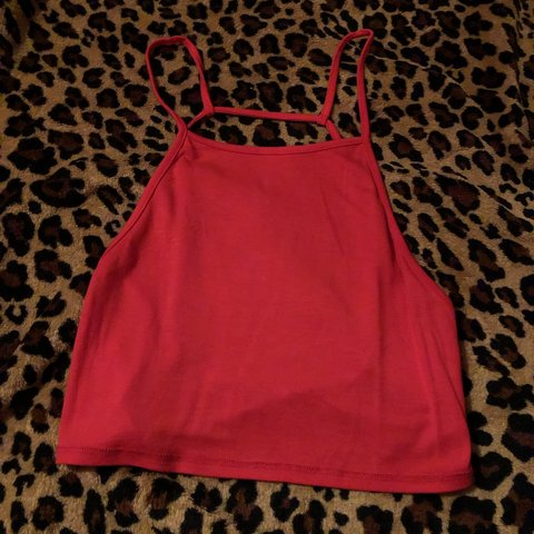 281abc7a60a @desireerivera11. 4 months ago. Whittier, United States. Brand new never  worn. Red cropped tank top