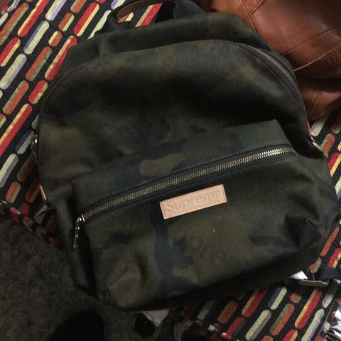 9a54f0174c8 @riot55. 5 months ago. Philadelphia, United States. Supreme x Louis Vuitton  camo bookbag never used just taking out ...