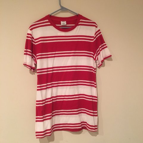 1962a92203 Urban outfitters Red and white striped t-shirt Bought as - Depop