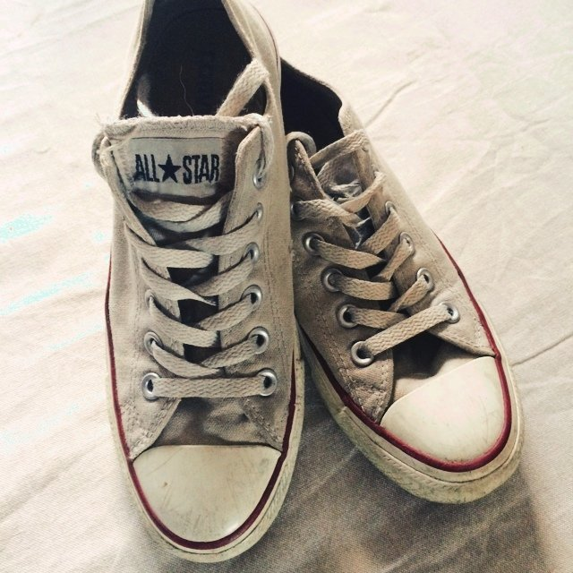 450fa82e22b ... top quality white converse size 5 but fits size 6 6 half used depop  c49c5 95e4f