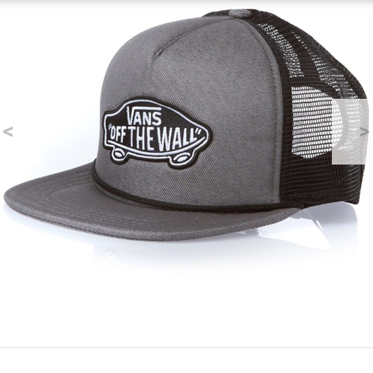 Vans Classic Patch Trucker Hat. Grey and black snapback. for - Depop 260405d4662e