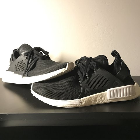 c77fa9a8e Size US 11.5 Adidas NMD XR1 Black White Great condition. on - Depop