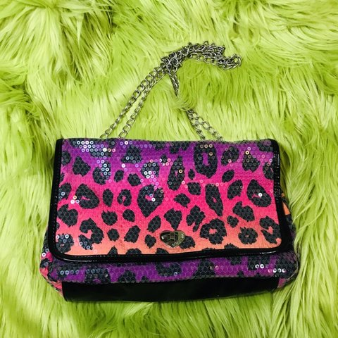 7a4d48f41 @thegab_father. last month. Lee's Summit, United States. Betsey Johnson  sequin leopard print purse ...