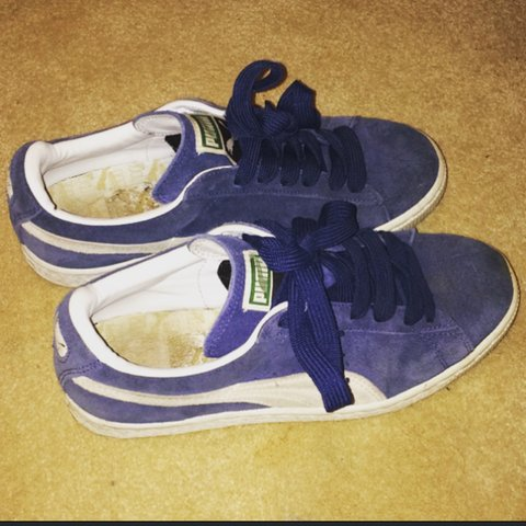 Navy blue PUMA suede trainers size 5. Good condition. - Depop 747c70fe5