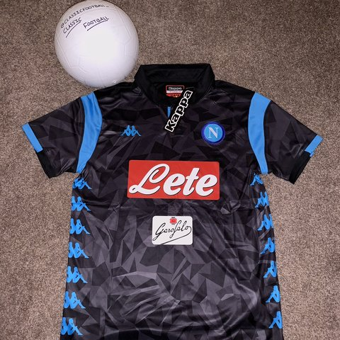 Napoli Replica Away Kit 18 19 Season Black Camo Depop