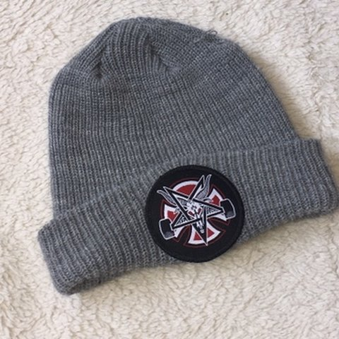 77c3891b7977d Thrasher 666 beanie only tried on once loose thread on top. - Depop