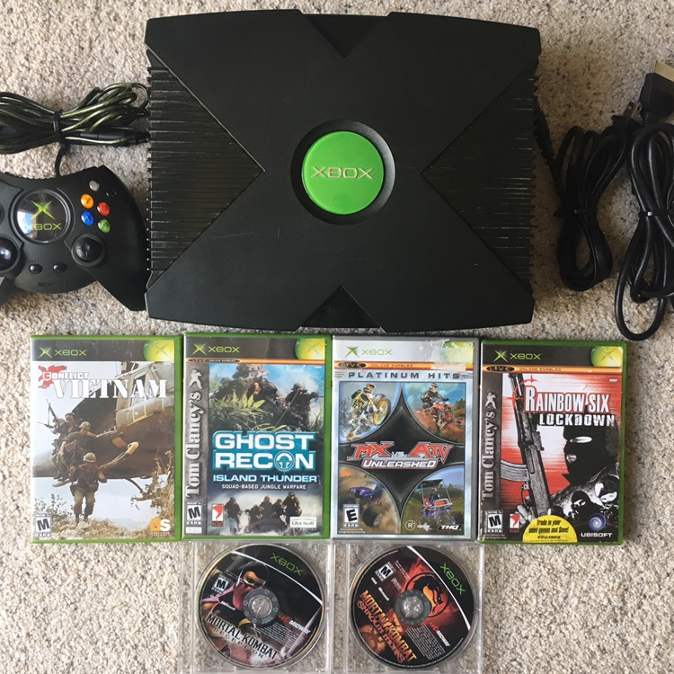 Original Xbox Console Lot Bundle Working ALL PIECES    - Depop