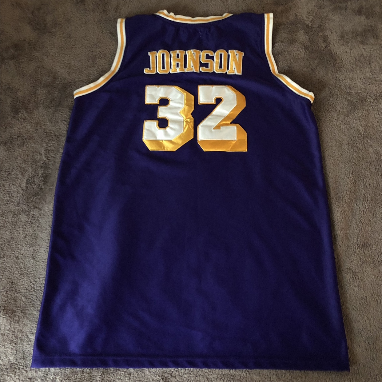 timeless design 77110 3dec0 Selling a Magic Johnson #32 Lakers jersey sz 54 by... - Depop