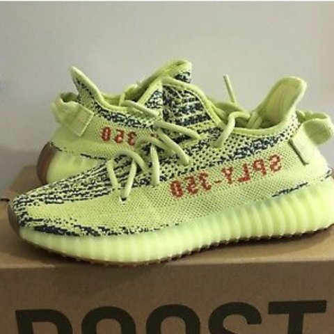 a6de08a5d Yeezy frozen yellow 350 v2 trainers size 3.5💛Received today - Depop