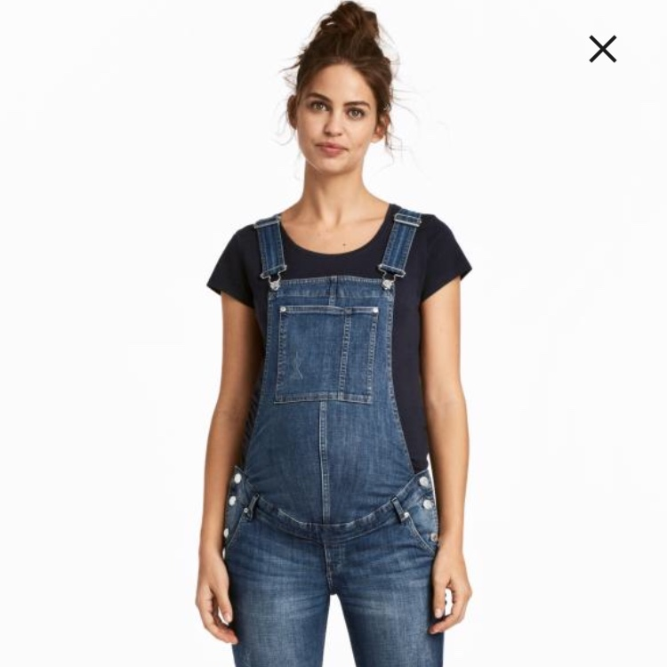 86ff63ac85 H M maternity dungarees worn a