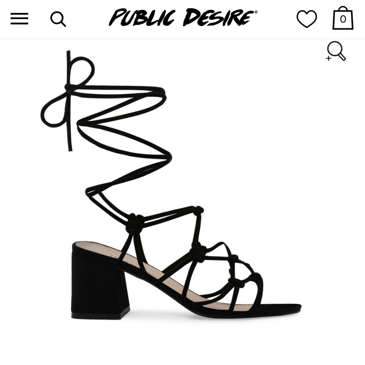 97c7a22057a PUBLIC DESIRE RRP £30.00 FREYA KNOTTED STRAPPY BLOCK HEELED - Depop