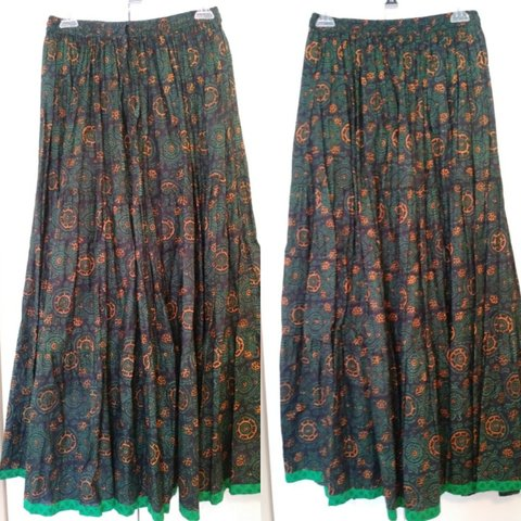 3eaafc0f04a5 @rbeers44. 3 months ago. Columbus, Franklin County, United States. NWOT Boho  Hippie Peasant Maxi Skirt ...