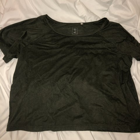 f52f0789136334 PACSUN me to we green velvet crop top. literally the SOFTEST - Depop