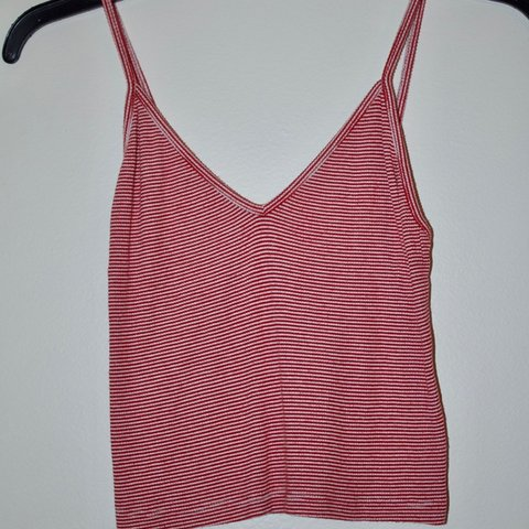 247d2506796 @marandanewson. 5 months ago. Yorba Linda, United States. cropped and tight  red and white stripped tank top from brandy melville worn three times