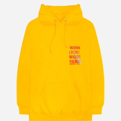 ASTROWORLD FESTIVAL HOODIE!! Travis Scott. this rare yellow Depop  for cheap