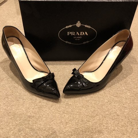 289be7786dd Prada black shoes - in great condition. Comes with original - Depop
