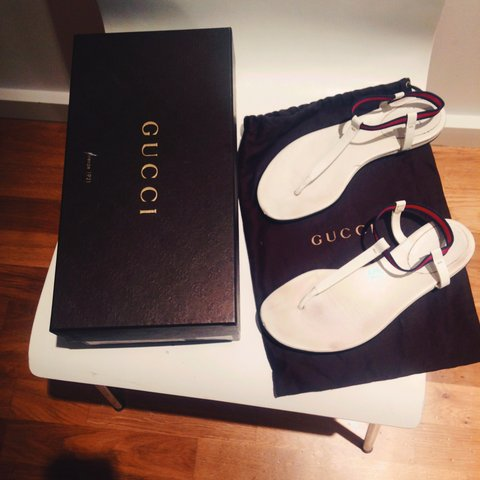 68227ec0c Hardly worn genuine Gucci Wimbledon white ladies sandals