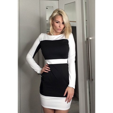 ab20bf523d Missguided Nicole dress Size 8 Mini Bodycon Dress - Depop
