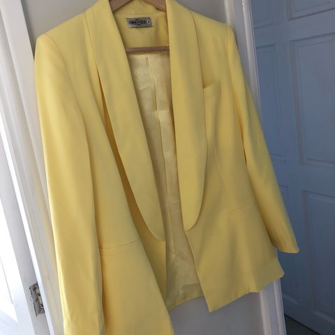5d848ced4a InTheStyle yellow blazer. Only worn once Size 8 - Depop