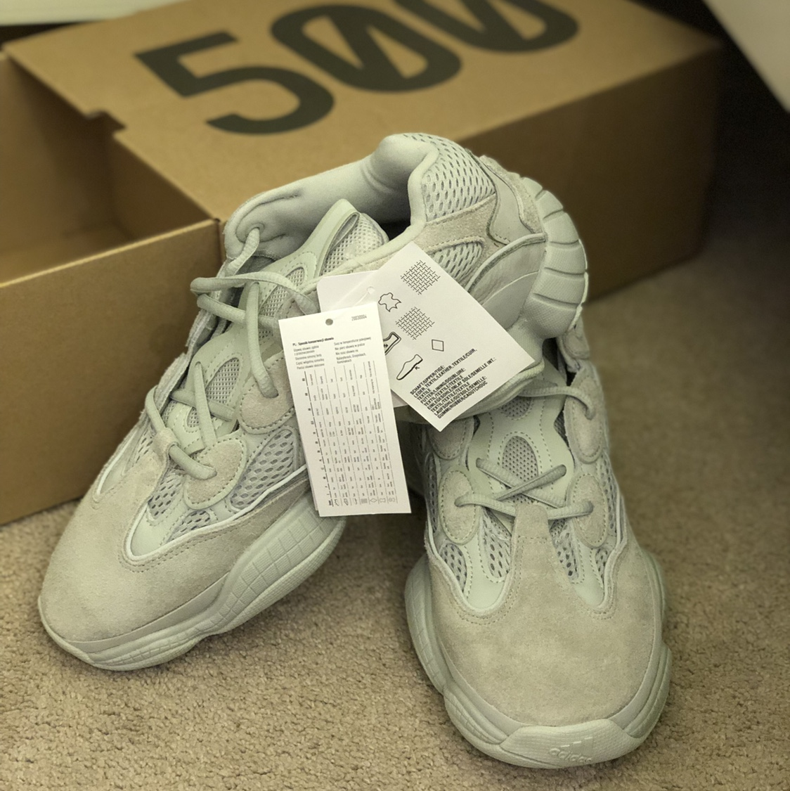 timeless design 90085 1314a Brand new Yeezy 500 salt- unopened, not used at all.... - Depop