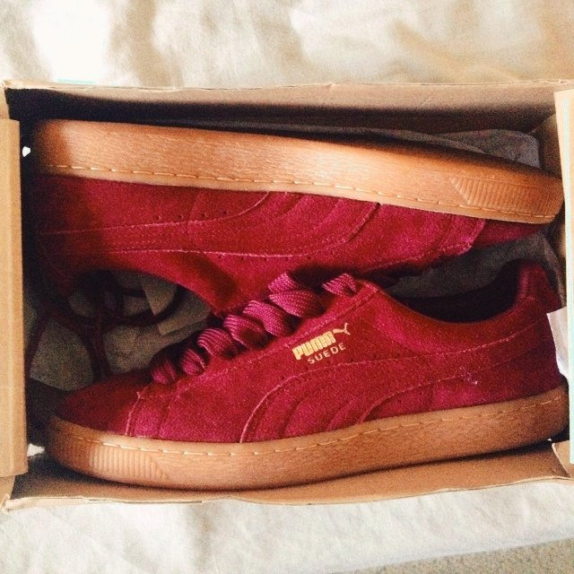 Suede Classic shoes maroon