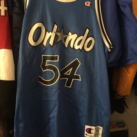 e2c56292114b Here is an old champion NBA Orlando Magic Horace Grant in It - Depop