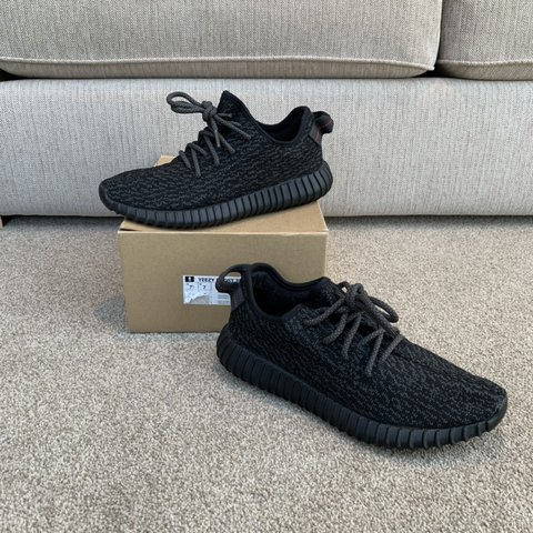 89c310a953aec Adidas yeezy pirate black Uk7 9.9 10 vnds £550 - Depop