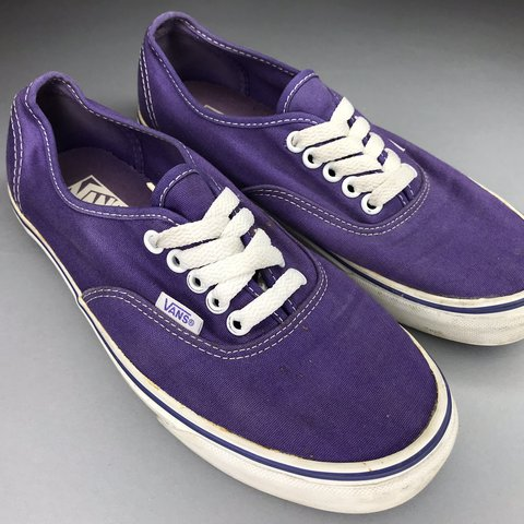 dbbb75b0155 Purple Authentic Vans in great condition. Lightly worn - 8 - Depop