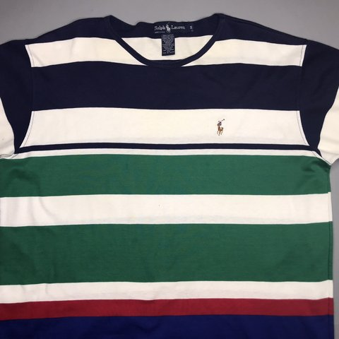 e37685f05 @freshthriftsut. 4 months ago. Salt Lake City, United States. 🔥Stripes!  Polo by Ralph Lauren Vintage t-shirt in amazing condition late 90's ...