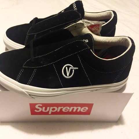30e22b3a7bc850 Supreme x Vans Sid Pro Black Size 12 100% Authentic!  US - Depop