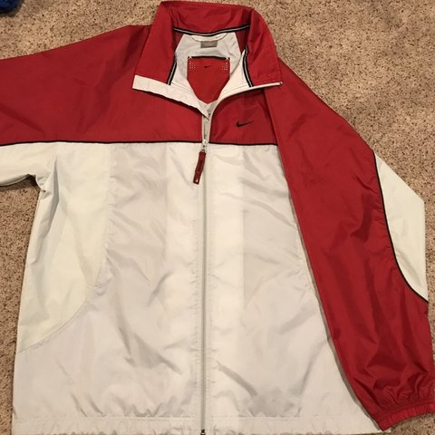 cad11c89c5a9 Vintage Like New Nike Windbreaker Light Jacket Zip Up White - Depop