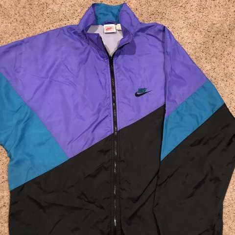 9178cc983c85 Vintage Like New Nike Windbreaker Light Jacket Zip Up Purple - Depop