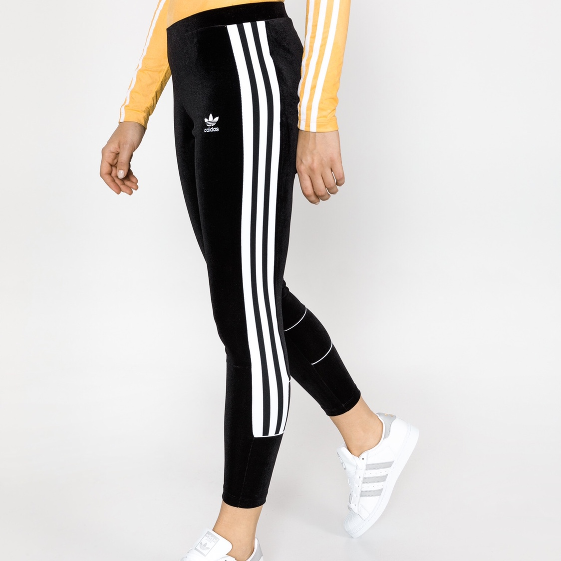 to buy factory outlet cheap prices NWT. Adidas Women's Black Velvet Leggings. Size Large ...