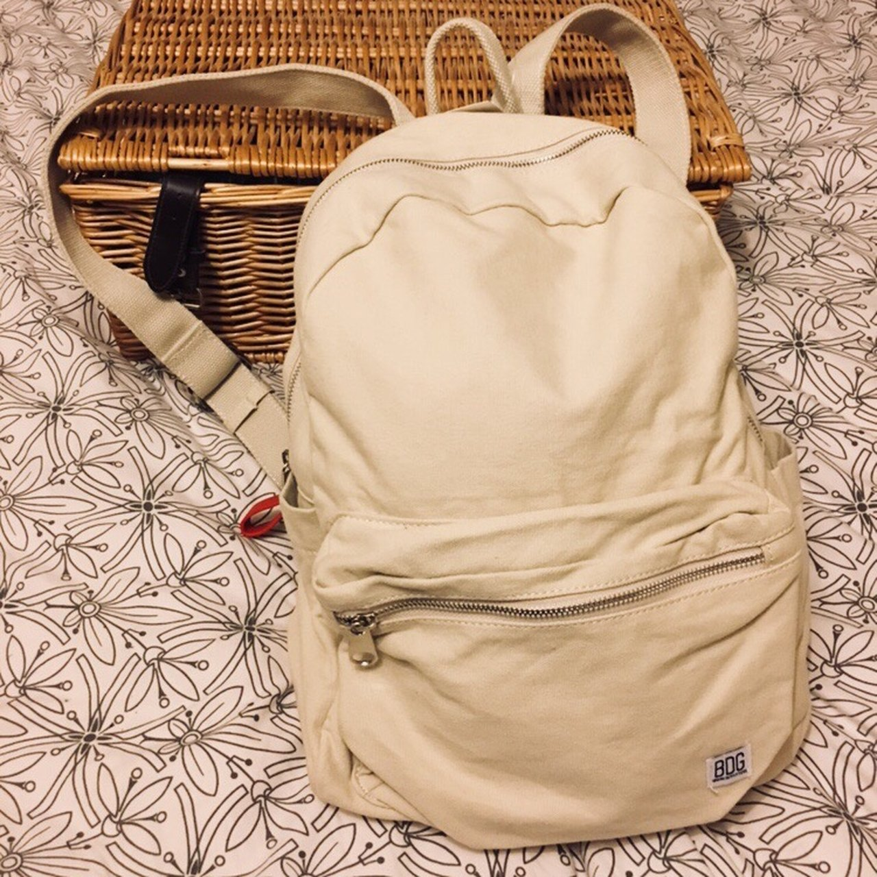 3b33f4b17dad Urban Outfitters BDG canvas backpack - never worn with - Depop