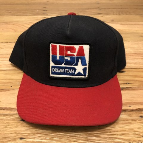 "6d8a2a6a37d Supreme ""Team USA Dream Team"" Basketball Team Snap Back One - Depop"