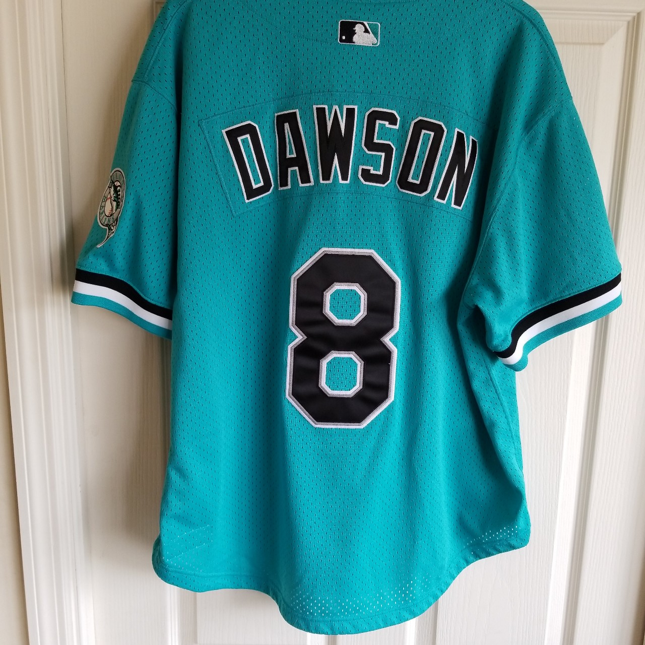 promo code 4c816 2a14e ANDRE DAWSON FLORIDA MARLINS THROWBACK JERSEY SIZE... - Depop