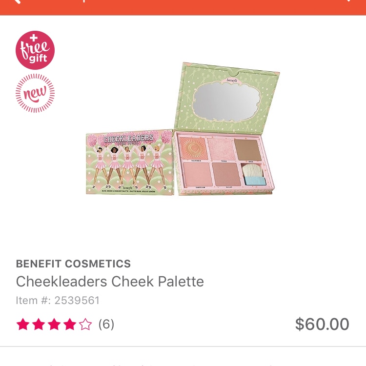 BRAND NEW! Benefit Cheek Leaders pallets! Comes with