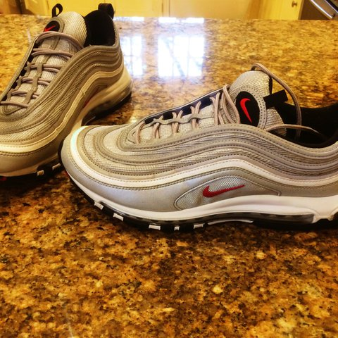 1f38d0f8169f ... shop nike air max 97 silver bullet in a size uk 11.5. worn only depop