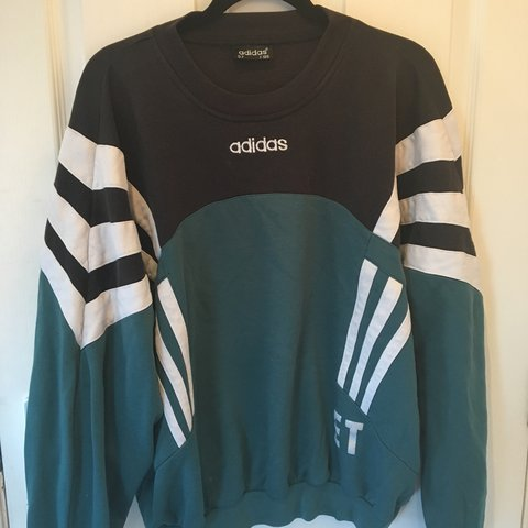 adidas green and black jumper