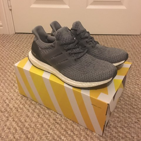 d3ebf3c8f Adidas Ultra Boost 3.0 - Mystery Grey - BA8849 - UK 9 - New - Depop